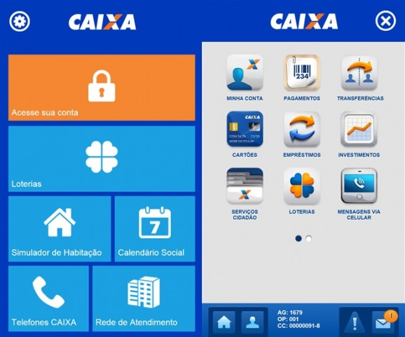 Caixa Windows Phone app