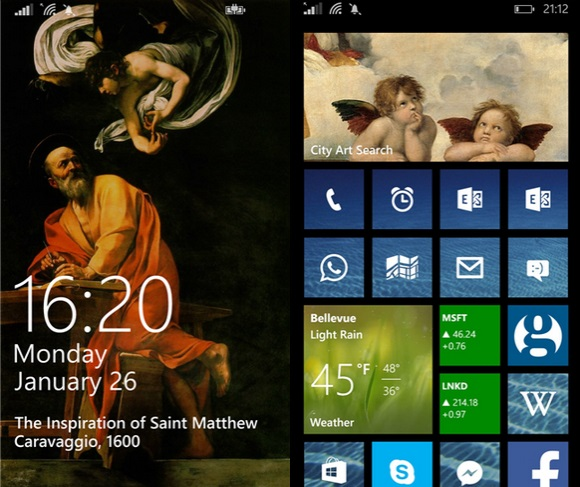 City Art Search Windows Phone Live Tile Lockscreen