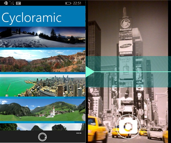 Cycloramic Windows Phone Store