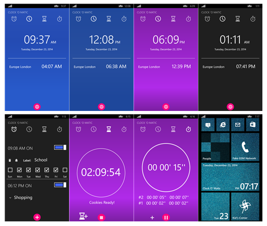 CLOCK O' MATIC - Android Lollipop Clock Experience on your Windowsphone 19