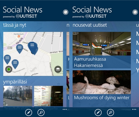 Social News Beta Windows Phone