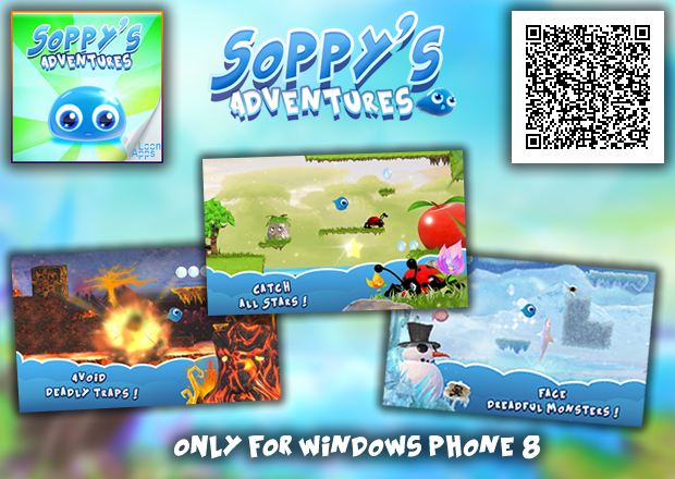 Soppy's Adventure, the new platform game made by Loon Apps 4