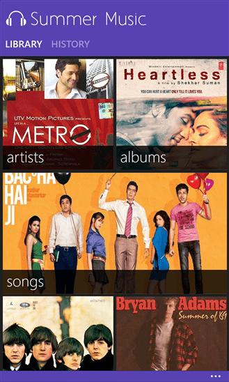 Summer Music for Windows Phone 6