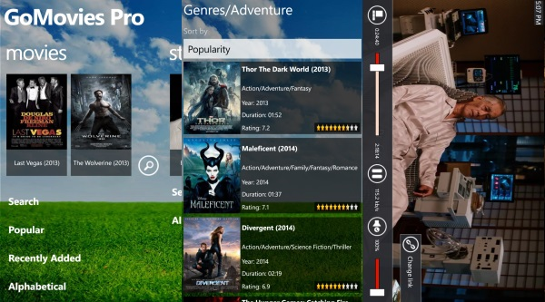 GoMovies Pro For Windows Phone Got A Major Update With New Interface And Features 13