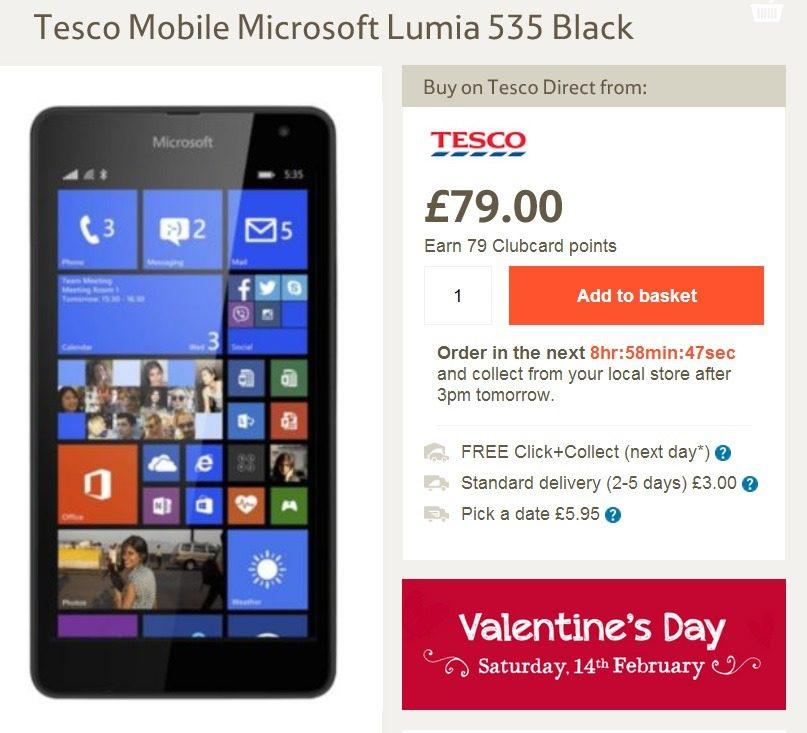 tesco mobile deal