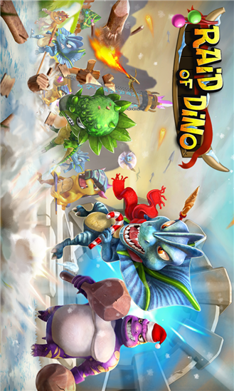 Raid of Dino - the epic combat strategy game on WP 18