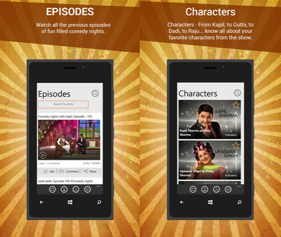 Official Comedy Nights With Kapil App Now Available In Windows Phone Store 6