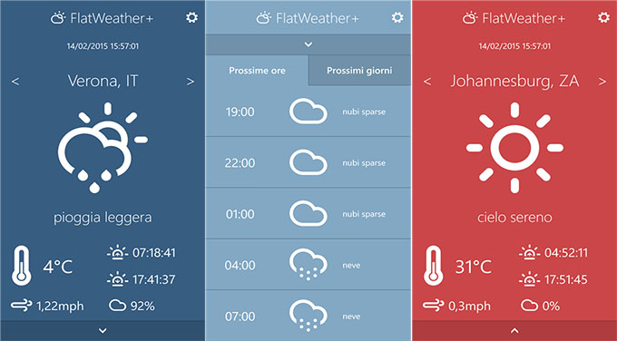 FlatWeather: a modern and easy-to-use weather app. 3