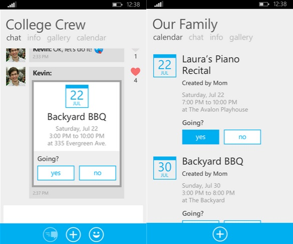 Skype GroupMe Windows Phone