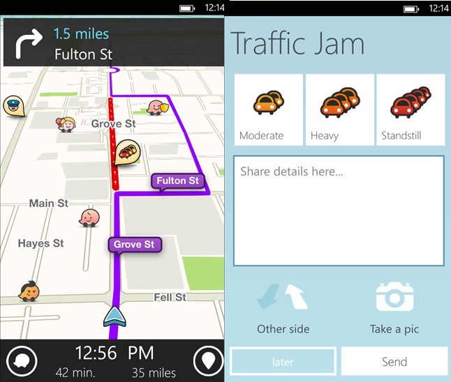 Waze Windows Phone app