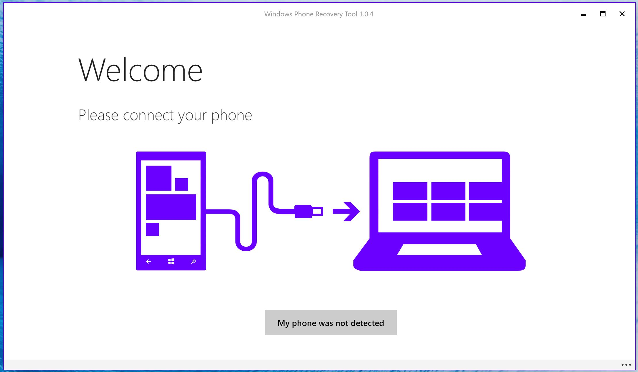 Windows Phone Recovery Tool 1