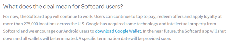 No surprise–Softcard terminating their Windows Phone app