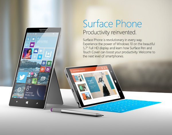 Check out this fully featured Surface Phone concept 4