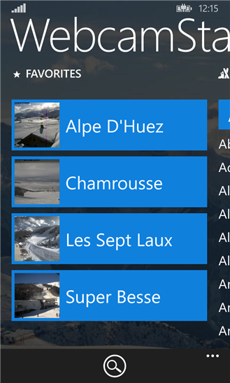 Webcams and weather for ski resorts and more - FREE 1