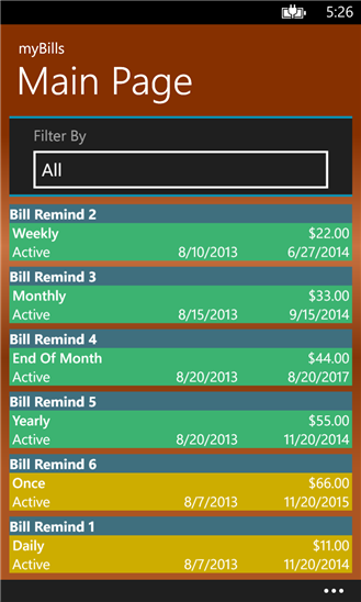 myBills has new History and graphing features - MSPoweruser