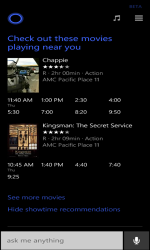 Cortana-MovieShowtimes