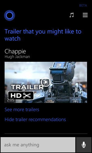 Cortana-MovieTrailers
