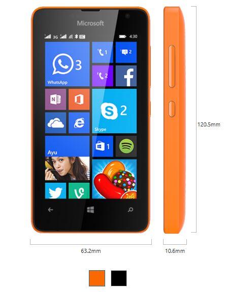 Lumia 430 Dual Sim Specs