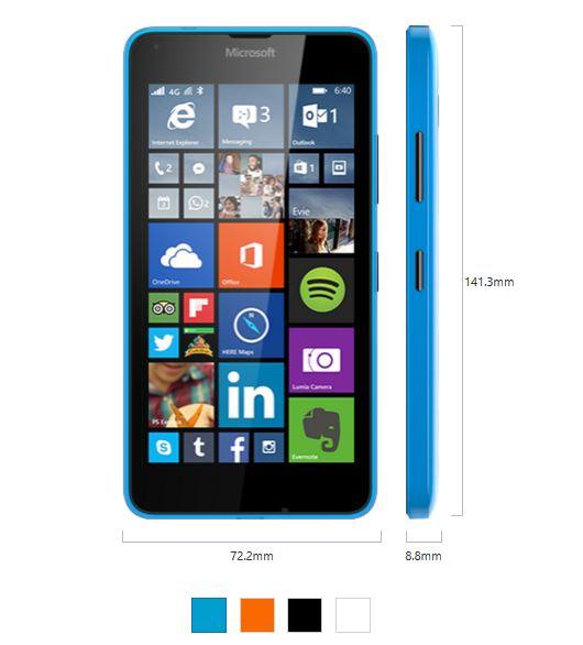 Lumia 640 Specs