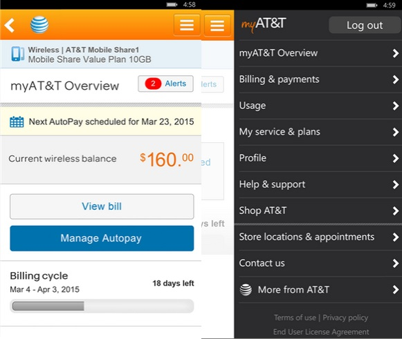 MyAT&T Windows Phone