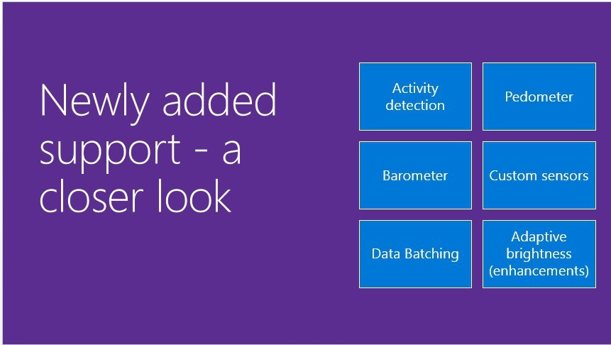 Windows 10 Mobile will finally support barometers/altimeters and long range human proximity detection 1