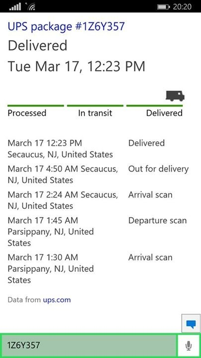cortana will now track your ups and usps packages mspoweruser