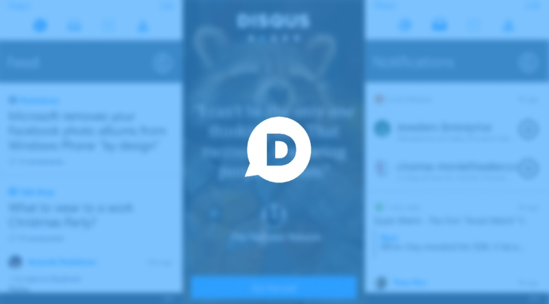 "Disqus UWP app updated with ""a touch of acrylic"", not crashing 1"