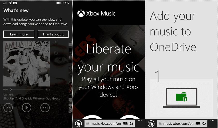 Xbox Music App updated with better OneDrive locker