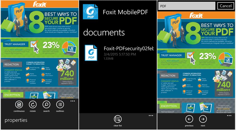 Mobile Pdf Reader