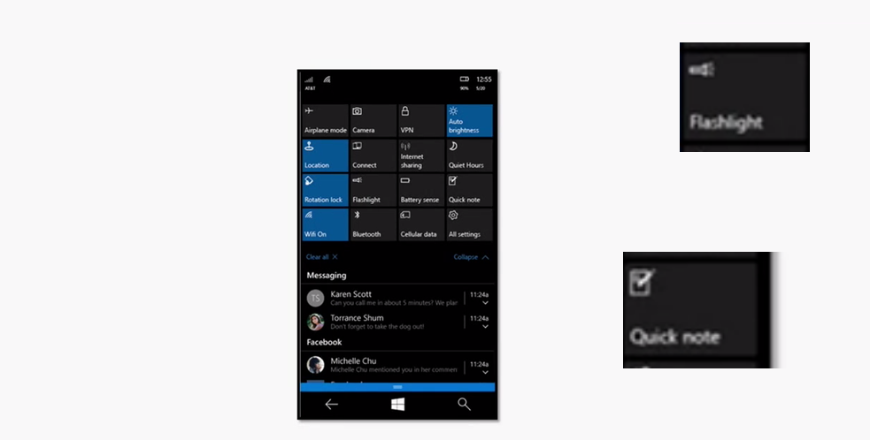 Rejoice–Windows 10 Mobile will have a Flashlight toggle in the Action Centre 13