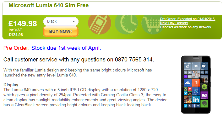 lumia 640 unlocked mobiles