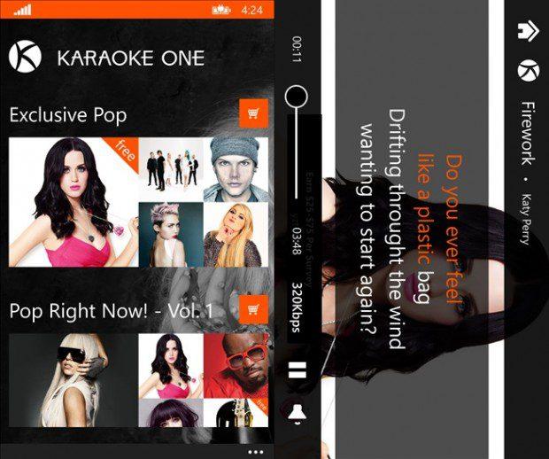 Karaoke One Windows Phone Store