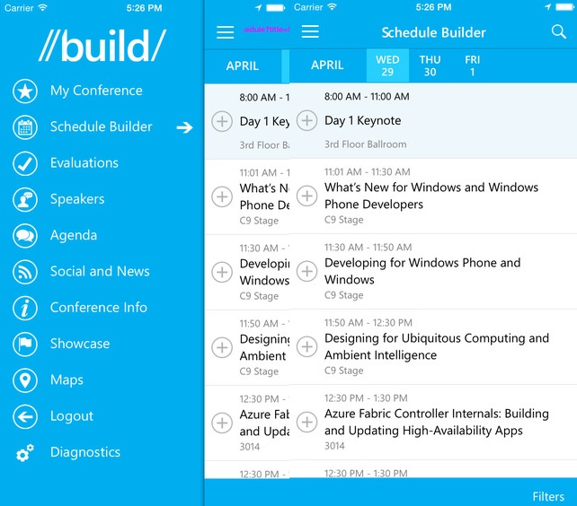 Microsoft Build App iOS Android