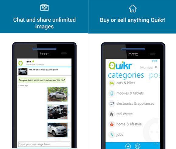 Quikr Windows Phone