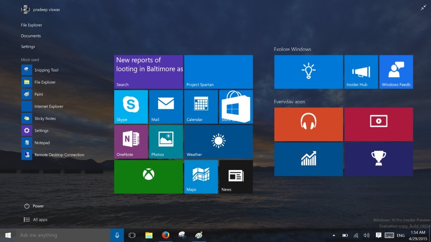 Windows 10 Build 10074 1 (Small)