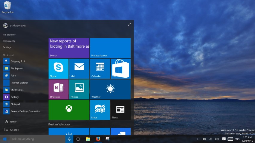 Windows 10 Build 10074 (Small)