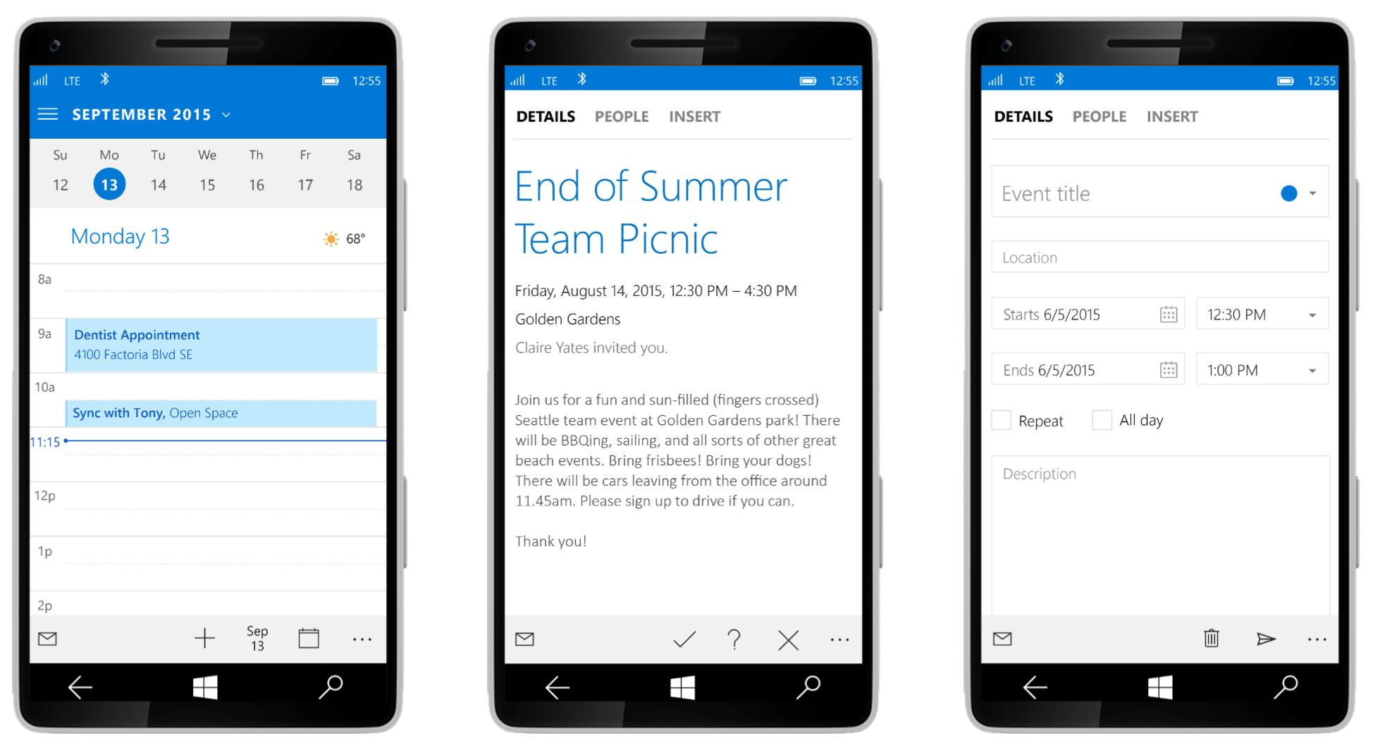 Windows 10 Outlook Mobile 2