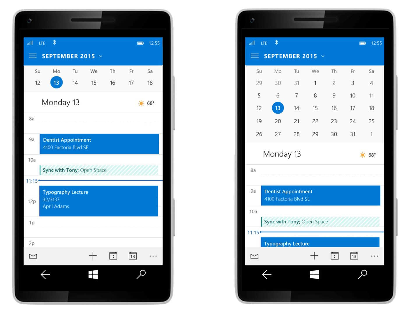 Windows 10 Outlook Mobile 3