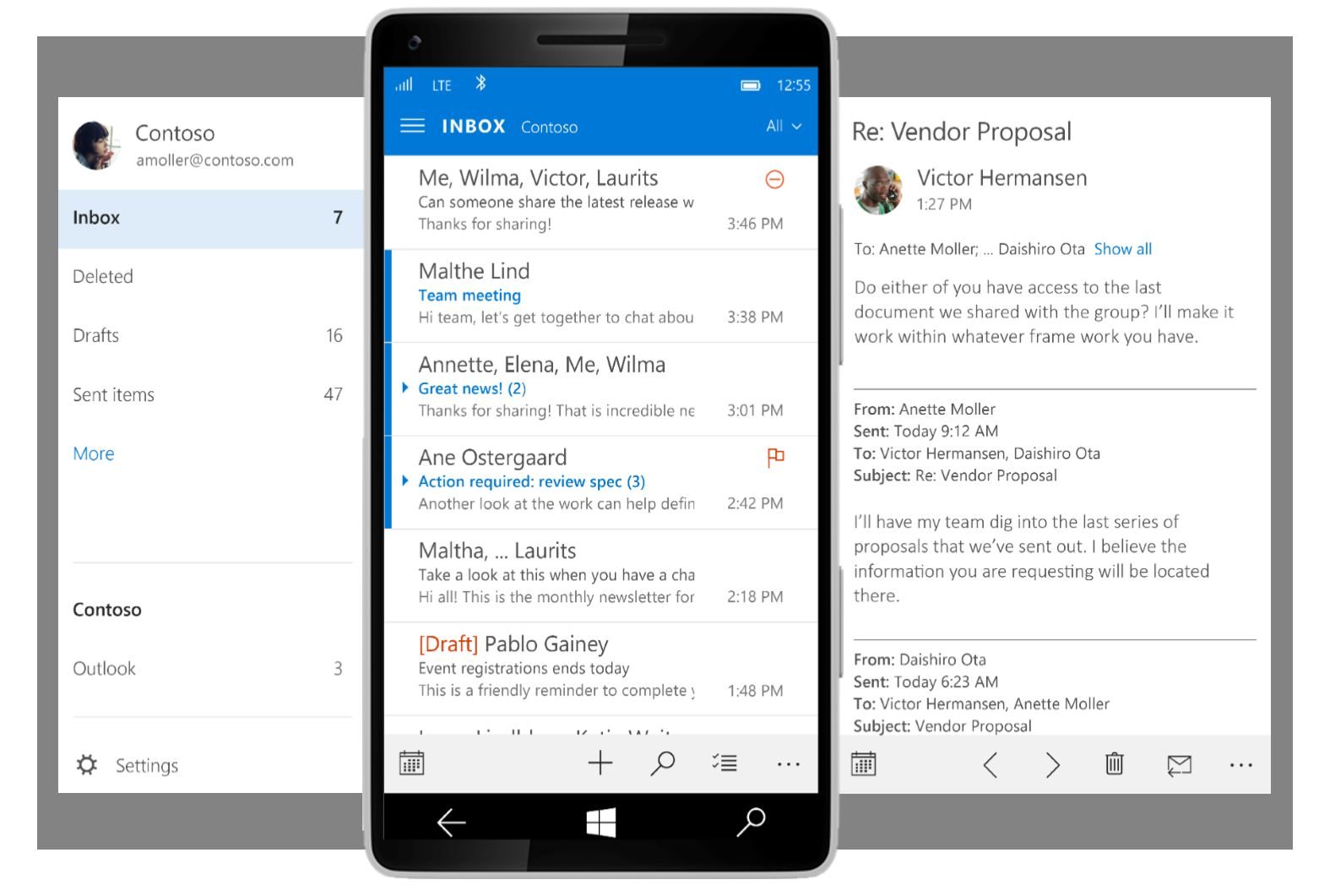 Windows 10 Outlook Mobile
