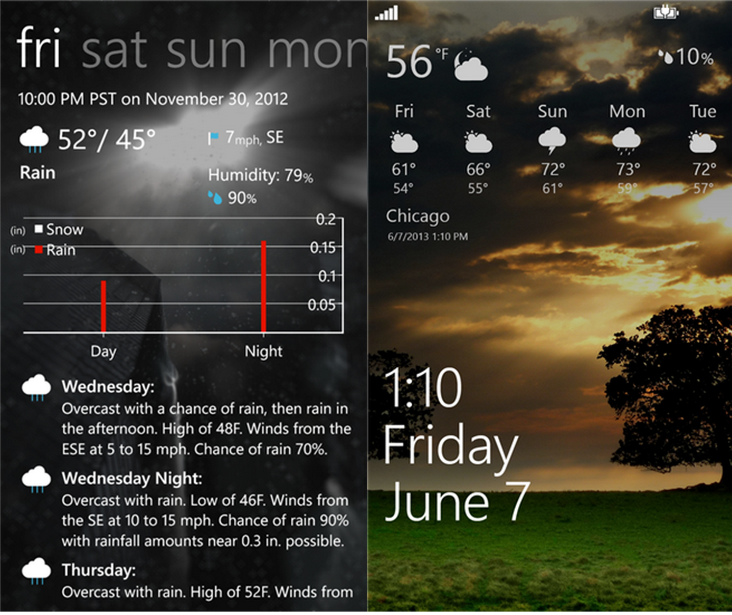 Amazing Weather HD updated with enhancements 13