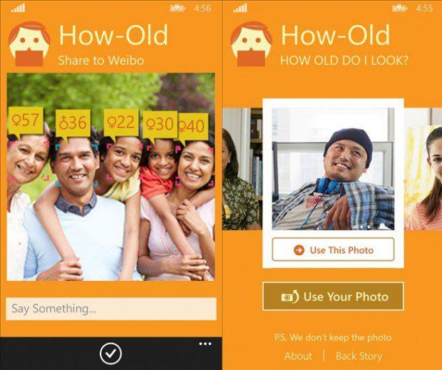 Microsoft How Old App Windows Phone