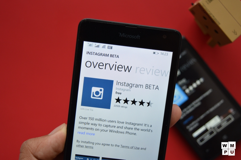 Instagram Beta For Windows Phone 8 Devices Removed From The