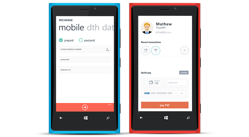 Freecharge Windows Phone app