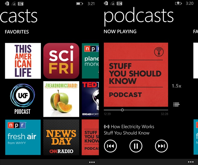 Microsoft Podcasts App
