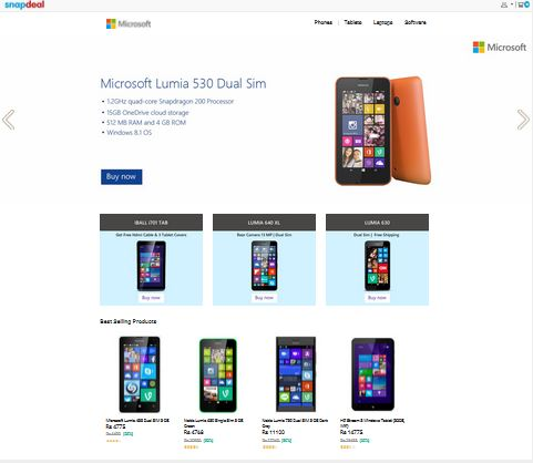 Microsoft Store Snapdeal