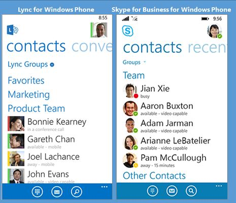 Skype For Business Windows Phone