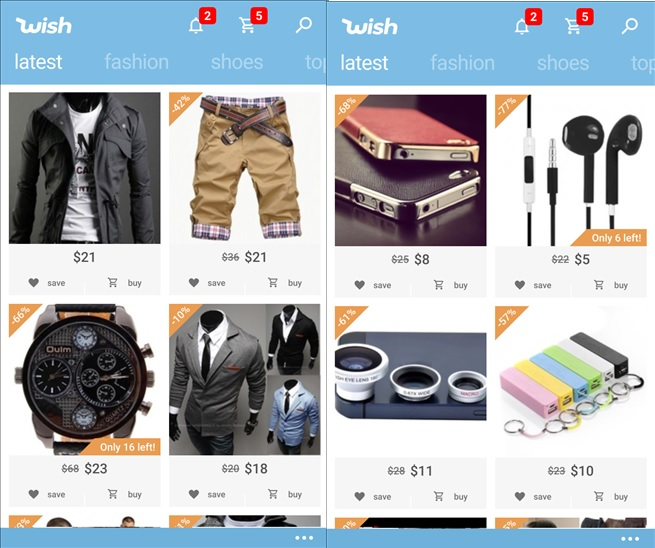 Wish Shopping App Now Available For Download From Windows Phone Store Mspoweruser