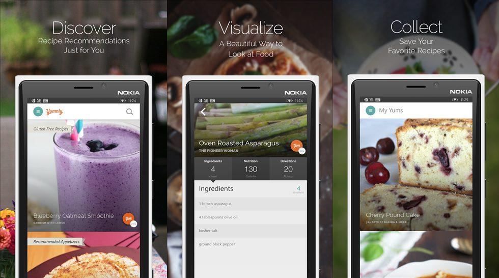 تطبيقات الطبخ ووصفات الطعام للهواتف Yummly-Windows-Phone