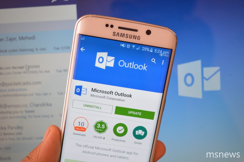 Outlook for Android updated with new image options 1