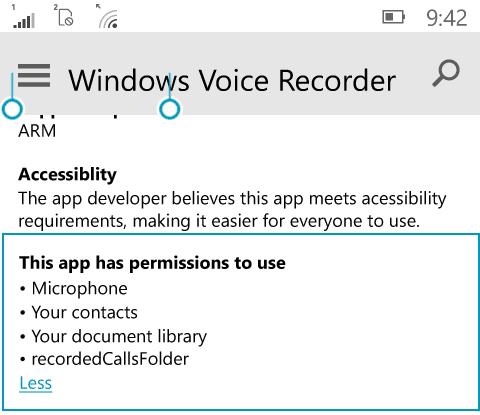 recorded calls